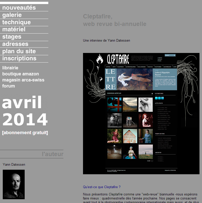Interview sur « Galerie-photo »